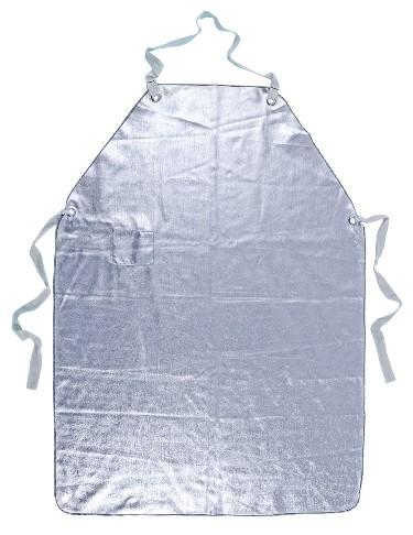 Dreilagiges, ungefuettertes Mantel, silberfarben, zertifiziert nach EN 11612:2009