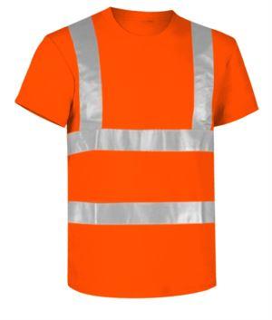 Warnschutz T-shirt mit Reflexstreifen, zertifiert nach EN 20471, Farbe orange