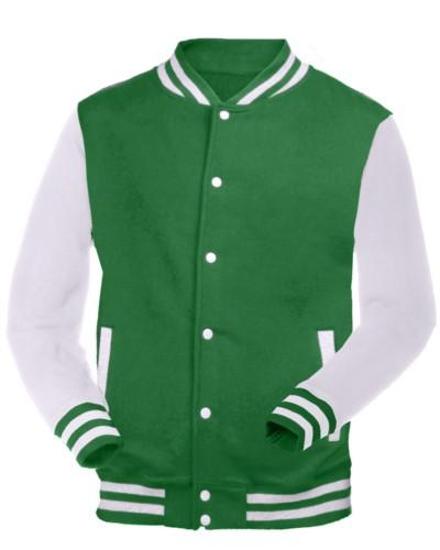 weiße und grun zweifarbige Werbearbeit Sweatshirt