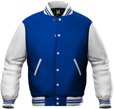 Koenigsblau und Weiss zweifarbige Werbearbeit Sweatshirt